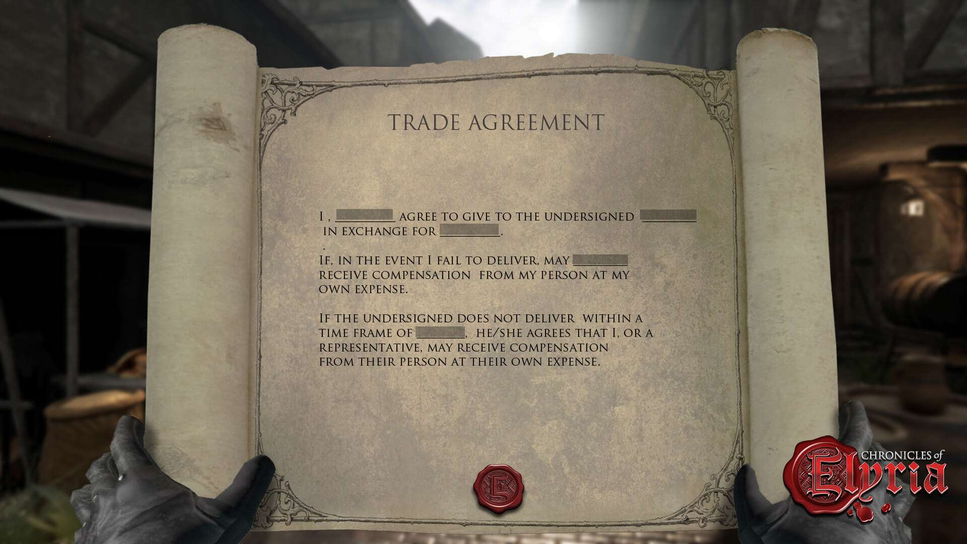 Contracts In Chronicles Of Elyria Elyrian Life