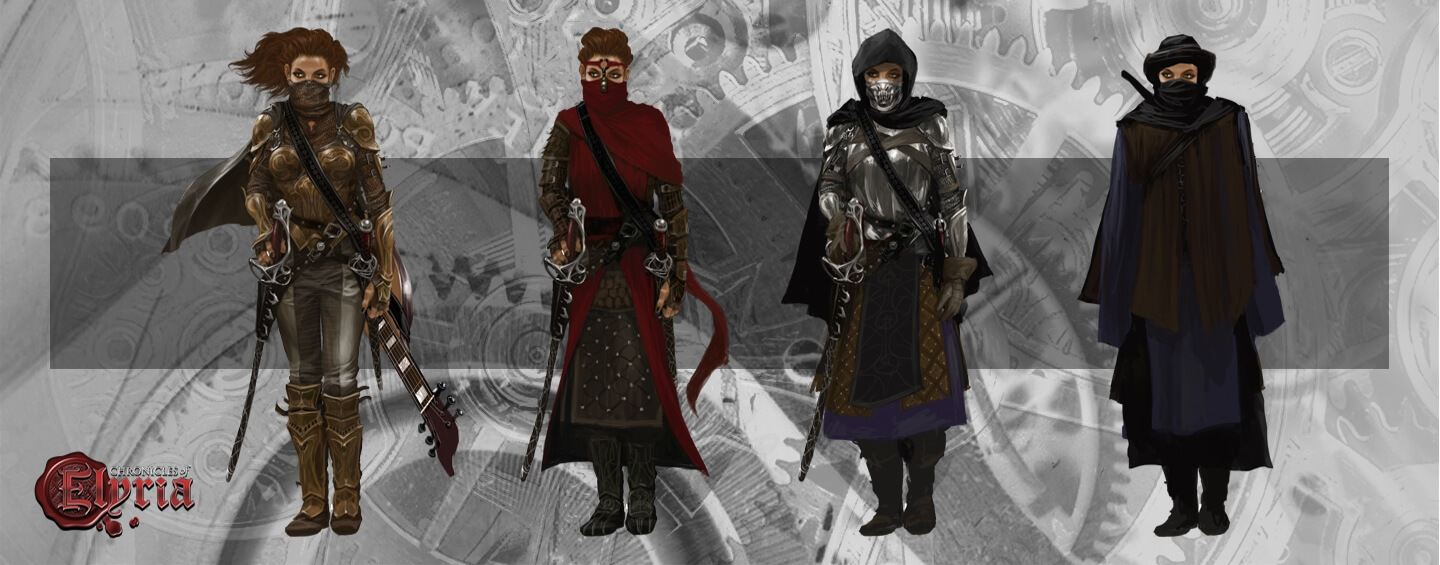 A player in a set of four different disguises.