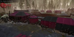 Amory and Vendor Tents at the back of the Jousting Arena