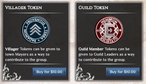 Villager and Guild Tokens