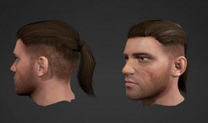 Male face and hair customisations.