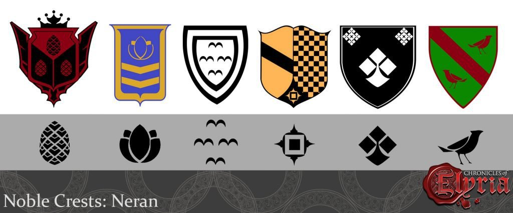 Noble Crests of the Jousting Tournament Dominions