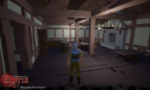 Prelyria screenshot of a player inside a tavern.