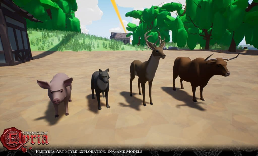 Prelyria screenshot of animals.