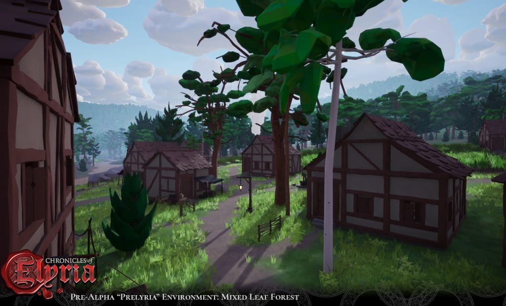 Pre-Alpha PreElyria A Town in the Mixed Leaf Forest