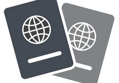 Illustration of a Visa or Passport.